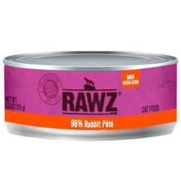 Rawz Rawz Cat Can GF 96% Rabbit Pate' 5.5 oz 24/Case