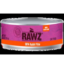 Rawz Rawz Cat Can Grain Free 96% Rabbit Pate' 5.5 oz 24/Case