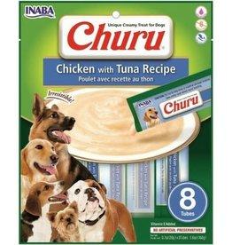 INABA FOODS USA INABA CHURU PUREE DOG TREATS CHICKEN & TUNA 8 PK