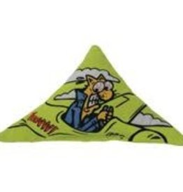 Yeowww Yeowww Catnip Purr-Muda Triangle Green