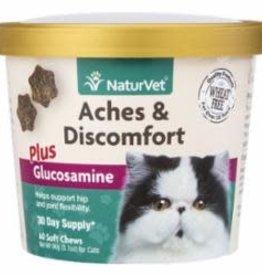 NaturVet NATURVET CAT ACHES & DISCOMFORT GLUCOSAMINE CHEW 60CT