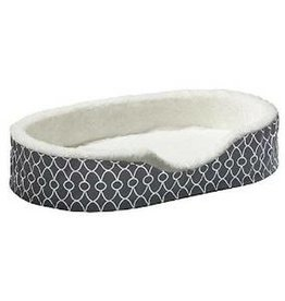 """Midwest Midwest Orthopedic Nesting Bed with Teflon Gray Geo Pattern 28 x 22.5 x 8.5"""""""