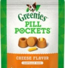 Greenies Greenies Pill Pockets Capsule Size Cheese Flavor Dog Treats, 7.9 oz., Count of 30