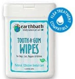 Earthbath Earthbath Tooth & Gum Wipes For Dogs, Cats, Puppies & Kittens 25 Ct