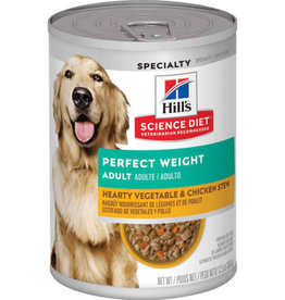 Hill's Science Pet Hill's Science Diet Adult Perfect Weight Hearty Vegetable & Chicken Stew Dog Food 12.5 oz