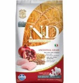 Farmina FARMINA N&D GRAINS ANCESTRAUX CHIEN POULET & POMME GRENADE MOYEN/GRAND 5.5LBS (CS=4)