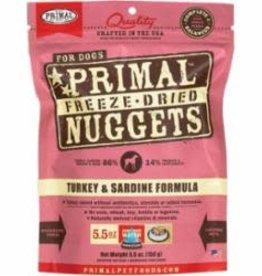 Primal Primal Freeze-Dried Turkey & Sardine Nuggets Dog Food 5.5 oz