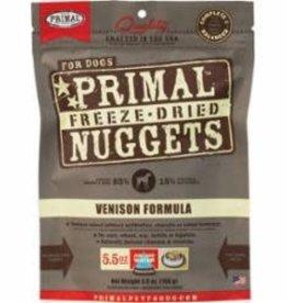 Primal Primal Freeze Dried Nuggets Venison Dog Food 5.5 oz