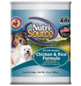 Nutrisource NUTRI SOURCE DOG CAN CHCK/RICE, 13 oz