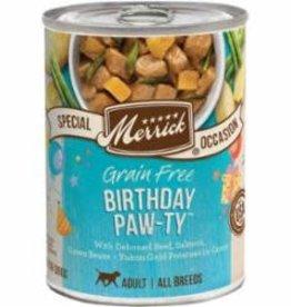 MERRICK PET CARE, INC. MERRICK DOG BIRTHDAY PAWTY 12.7OZ