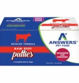 Answers ANSWERS DOG FROZEN DETAILED BEEF 8OZ PATTIES 8 COUNT