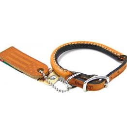 Coastal Circle T Leather Round Collar