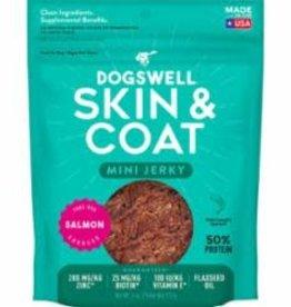 Dogswell DOGSWELL DOG SKIN & COAT JERKY MINI GRAIN FREE SALMON 4OZ