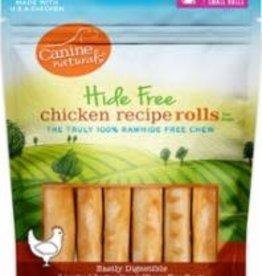 "CANINE NATRL HIDE FREE 2.5"" CHKN MINI ROLL 6pk"