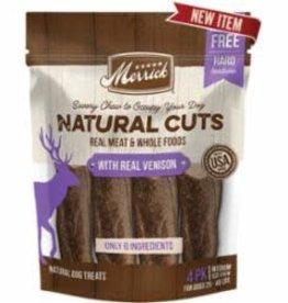 Merrick Merrick Natural Cuts with Real Venison Medium Chew 6 / 4 ct