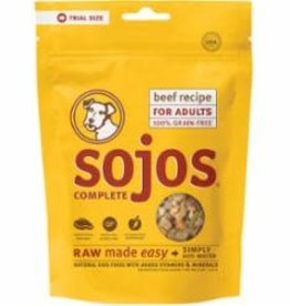Sojo's Sojos Dog Food Adult Complete Beef 4 oz Trial 12/Case