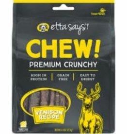 Etta Says Etta Says Dog Treat Crunchy Chew Premium Venison 4.5 oz