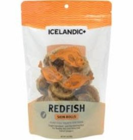 Icelandic ICELANDIC DOG RED FISH SKIN ROLLS 3OZ BAG