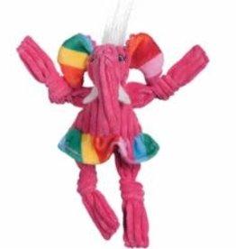 HuggleHounds HuggleHounds Dog Toy Rainbow Knotties Elephant Small