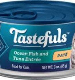Blue Buffalo Blue Buffalo Cat  TASTEFULS PATE OCEAN FISH TUNA ENTREE 3oz/12