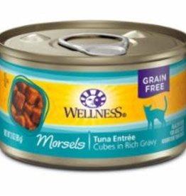 Wellness Wellness 3 oz Cat Can Cuts  Cubed Tuna Entree 24/CS