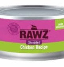 Rawz Rawz Cat Can GF Shredded Chicken 3 oz 18/Case