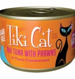 Tiki Pet Tiki Cat Grill Can Grain Free Ahi Tuna & Prawns Manana 6 oz