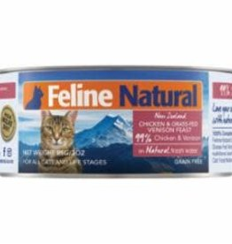 Feline Natural FELINE NATURAL CAT GRAIN FREE CHICKEN & VENISON 3OZ