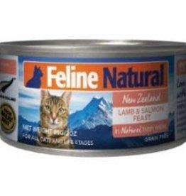 Feline Natural FELINE NATURAL CAT GRAIN FREE LAMB & SALMON 3OZ