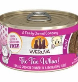 Weruva Weruva Cat Classic Can Grain Free Pate Tuna & Salmon - Tic Tac Whoa 3 oz 12/Tray