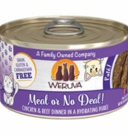 Weruva Weruva Cat Classic Can Grain Free Pate Chicken & Beef - Meal Or No Deal 3 oz 12/Tray
