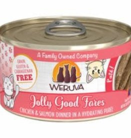 Weruva Weruva Cat Classic Can Grain Free Pate Chicken & Salmon - Jolly Good Fare 3 oz 12/Tray