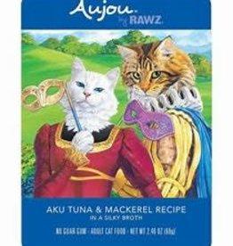 Rawz Rawz Cat Pouch GF Aujou Aku Tuna & Mackerel 2.46 oz 8/Tray