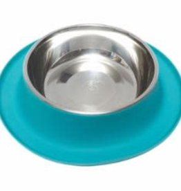 Messy Mutts Messy Mutts Silicone Feeder with Stainless Bowl 6 Cups, XL Blue