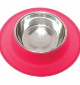 Messy Mutts Messy Mutts Silicone Feeder with Stainless Bowl 1.5 Cups , Med, Watermelon