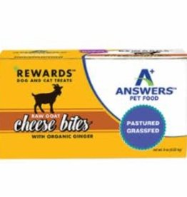 Answers Answers Frozen Raw Goat Milk Cheese Treat with Ginger 8 oz