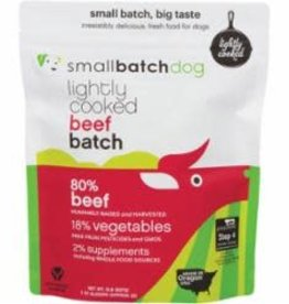 Small Batch SMALL BATCH FRZN DOG LIGHTLY COOKED BEEF 2#