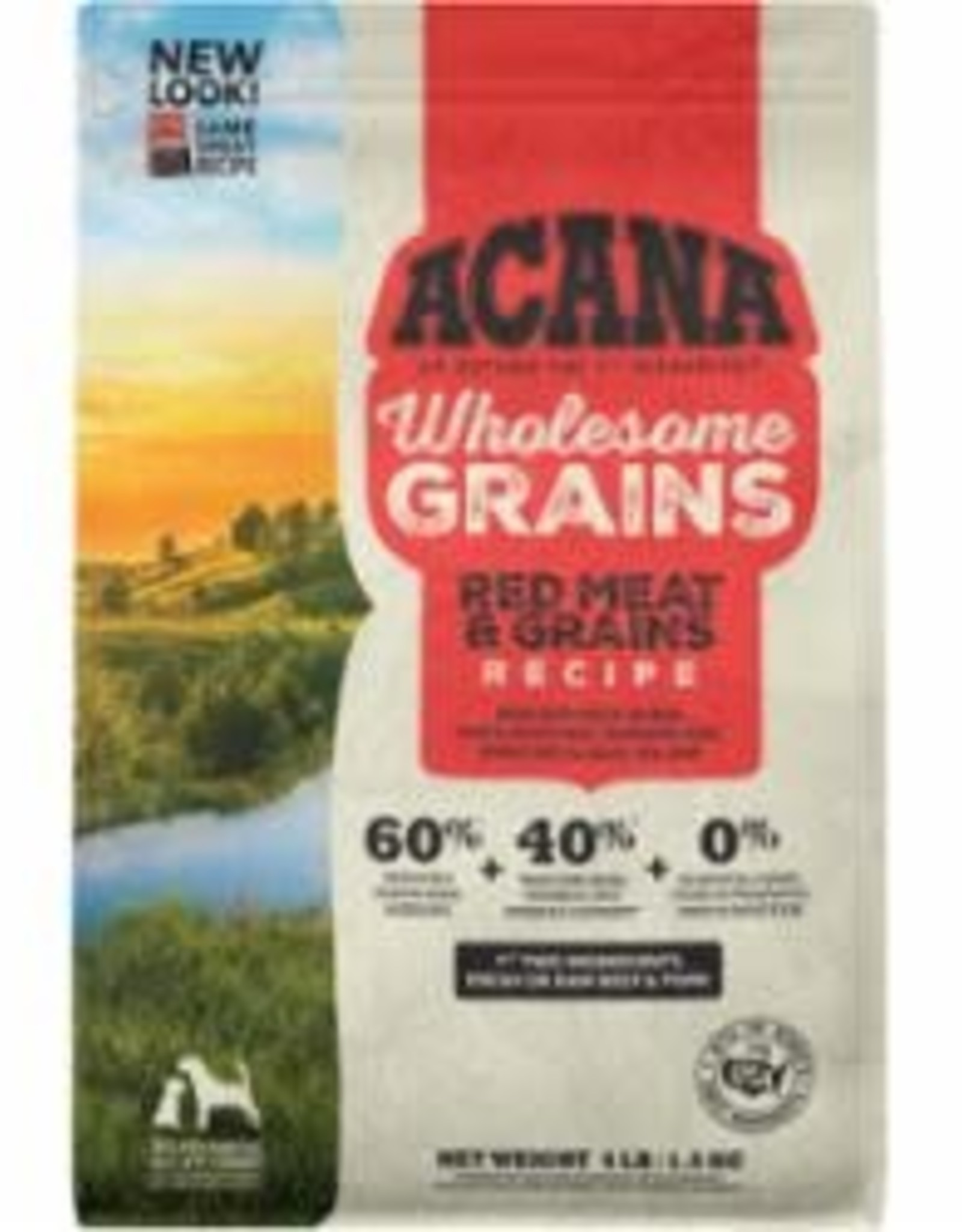 Acana ACANA DOG WHOLESOME GRAINS RED MEAT 4LB