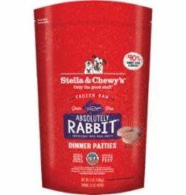 STELLA & CHEWY'S LLC / FROZEN STELLA & CHEWY'S DOG FROZEN DINENR PATTIES RABBIT 3LB
