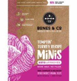 Bones & Co BONES & CO DOG FROZEN GRAIN FREE MINIS TURKEY 3LB