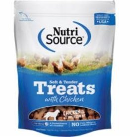 Nutrisource NutriSource Dog Dry Treat Soft & Tender Chicken 6 oz 12/Case