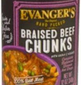 Evanger's Evanger's Braised Beef Chunks with Gravy Dog Food - 13 oz