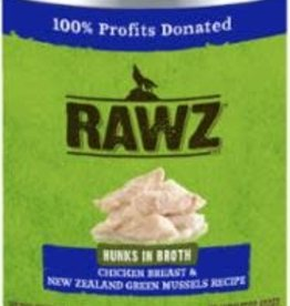 Rawz Rawz Hunks Recipe Canned Dog Food 14oz - Chicken Breast & New Zealand Green Mussels