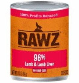 Rawz Rawz 96% Lamb and Liver Can Dog Food