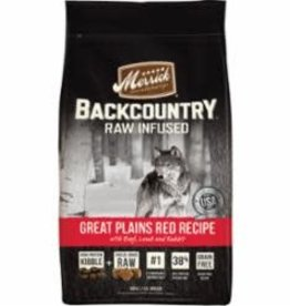 Merrick MERRICK DOG BACKCOUNTRY GRAIN FREE GREAT PLAINS RED MEAT 4LB