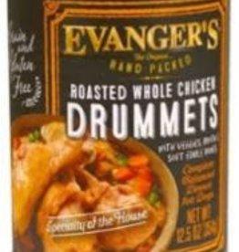 Evanger's Evanger's Dog Can GF Hand Packed Roasted Chicken Drummet 13 oz 12/Case.
