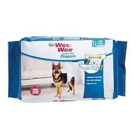 FOUR PAWS PRODUCTS WEE WEE DISPOSABLE DOG DIAPER, LARGE/EXTRA LARGE 12/PACK