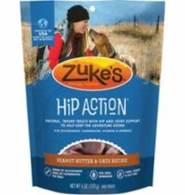 Zuke's ZUKES DOG HIP ACTION TREAT GLUCOSAMINE PEANUT BUTTER 6oz/12