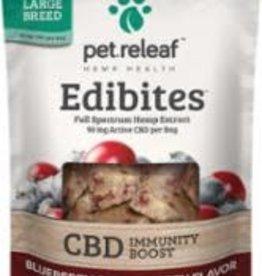 Pet Releaf PET RELEAF EDIBITE LRG BRD BBRY CRNBRY IMMUNITY BOOST 7.5oz/24