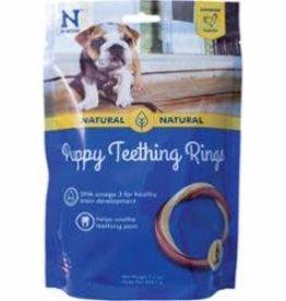 N-Bone N-BONE PUPPY TEETH RING-CHICKN, 6.12 OZ 6/PACK